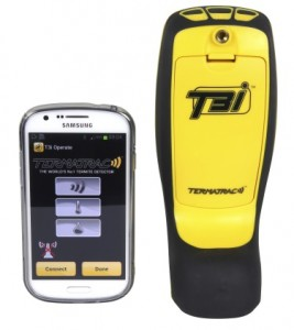 Termatrac unit and Android phone - termites - white ants