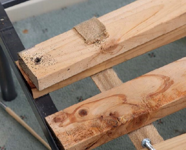 In and on wooden bed slats are an ideal home for bed bugs