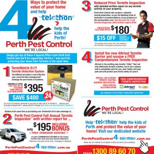 Perth Pest Control Telethon leaflet